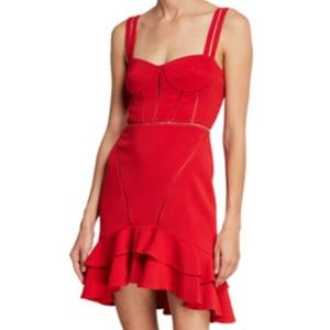 Jonathan Simkhai red crepe dress, size 4, NWT